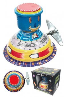 Retro Space Robot Mystery Motion Tin Toy