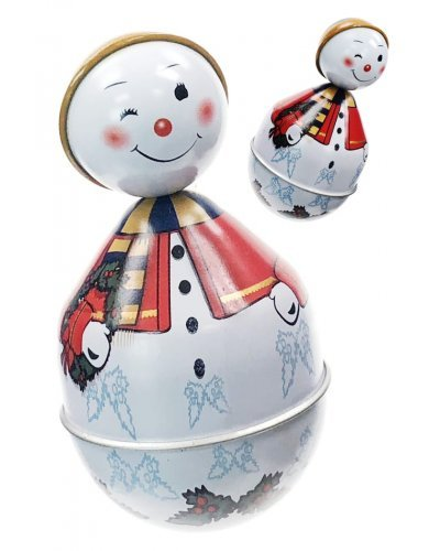 Snowman Roly Poly Wobble Toy with Sounds