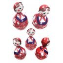 Farm Girl Doll Roly Poly Red Wobble Toy