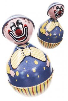Clown Roly Poly Purple Wobble Toy Purple