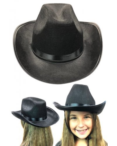 Black Cowboy Hat Child Size Wild West