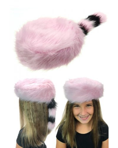 Pink Coon Skin Cap Girls Raccoon Cap