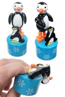 Pete and Pip Penguins Wooden Push Puppet