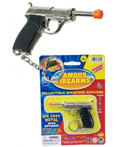 Lugar Cap Gun Silver Metal on Keychain