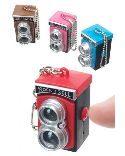 Retro Camera Flash and Sounds Keychain