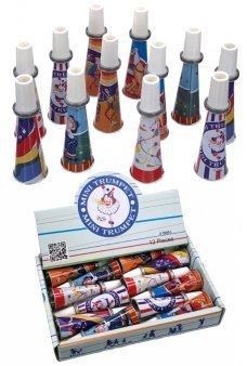 Tin Mini Trumpets Colorful Set of Dozen