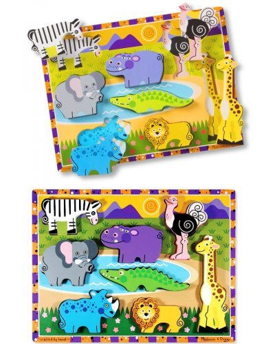 Safari Animals Wood Chunky Puzzle