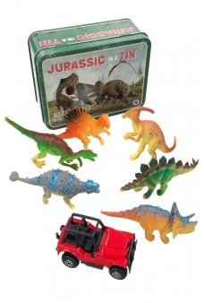 Jurassic in a Tin Dinosaur Play Set