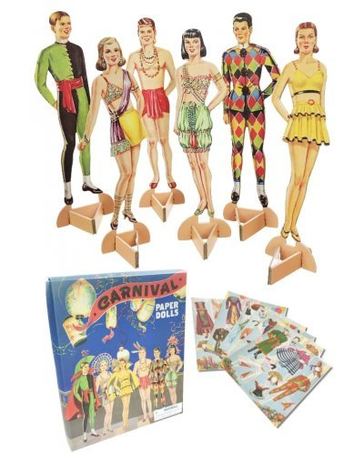 Carnival Paper Dolls Set - 6 Dolls 24 Costumes