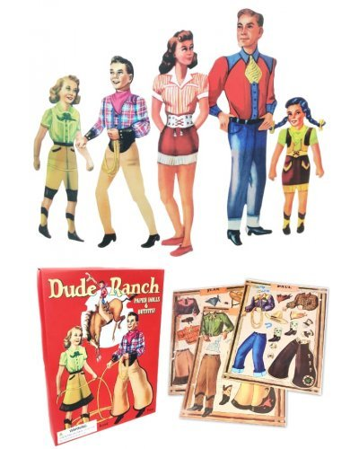 Dude Ranch Paper Dolls - Family Western Costumes