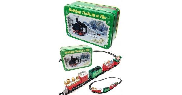 Holiday Train In A Tin Box Santa Locomotive