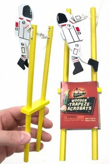 Wooden Astronaut Space Walking Acrobatic Toy