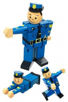Posing Policeman Wood Posable Figure Paul