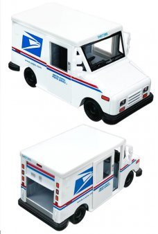 Mail Truck USPS LLV White Die Cast Toy Vehicle