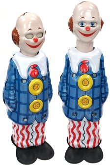 Happy Clown Tin Toy Stretches 1950