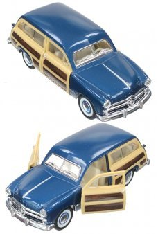 Woody Wagon 1949 Blue Toy Ford Car