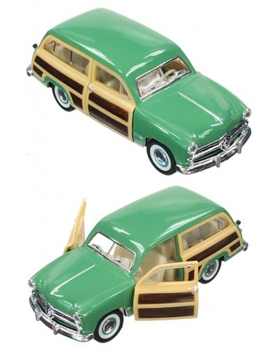 Woody Wagon 1949 Green Toy Ford Car