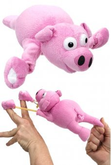 Flying Pig Oinking Slingshot Flingshot