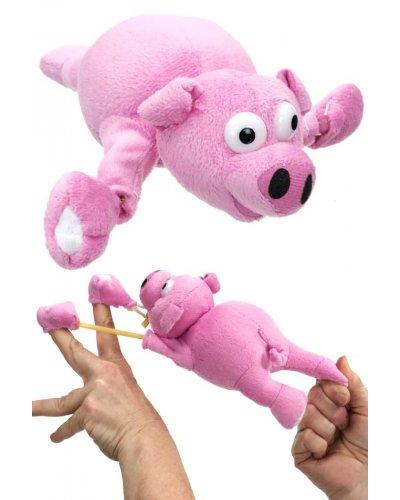 Flying Pig Oinking Slingshot Flingshot