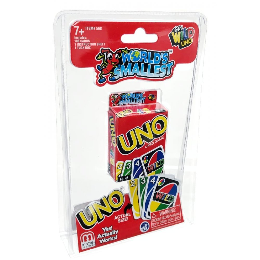 Worlds Smallest Uno Card Game : 854941007631
