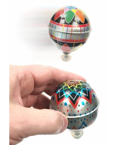 Trick Tin Top Metallic Colorful Gyroscope Toy