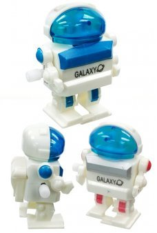 Gladys Galaxy Blue Dome Windup Robot Plastic