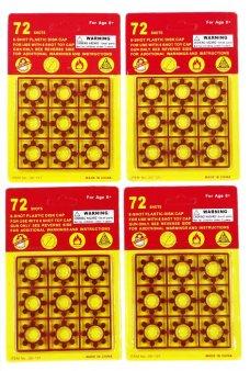 4 Packs 72 Shots 8 Ring Caps Refill 288 Shots