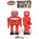 Christmas Red Robot Walking Windup