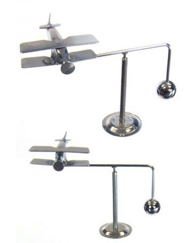 Airplane Silver Balancing Mobile Mini
