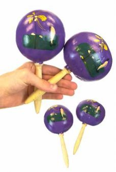 Mexican Maracas Musical Purple Pair