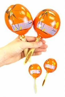 Mexican Maracas Musical Orange Pair