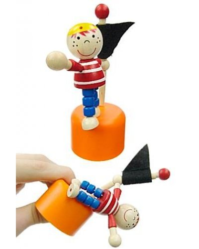 Frankie the Pirate Wood Thumb Puppet