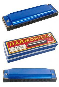 Harmonica Blue Metal Cowboy Music