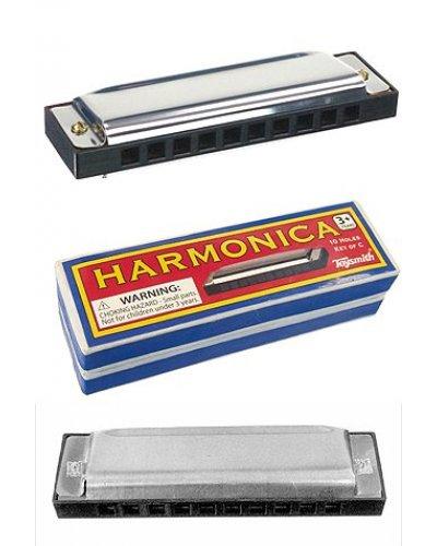 Harmonica Silver Metal Music Maker