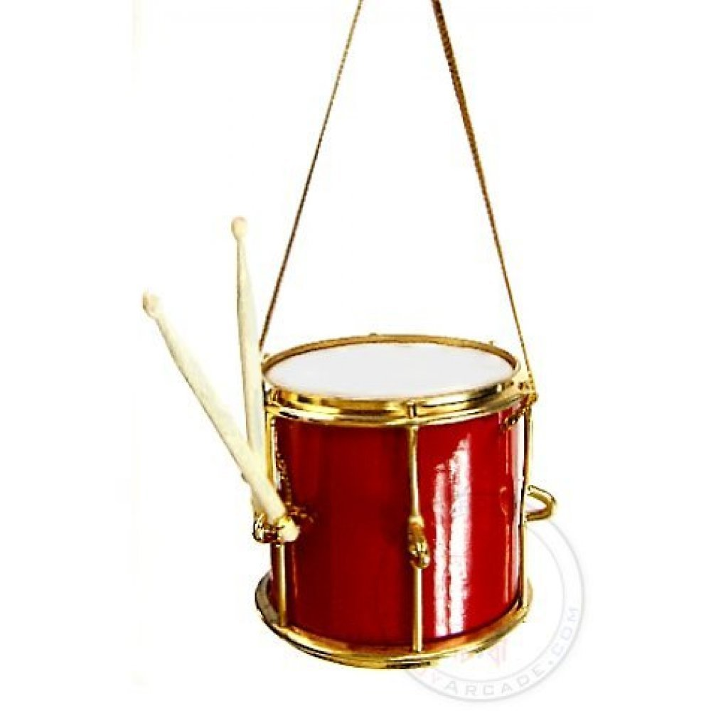 Red and Gold Drum : Christmas Ornament : Marching Band ...