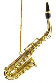 Gold Saxaphone Metal Ornament