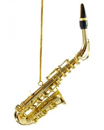 Gold Saxaphone Metal Ornament
