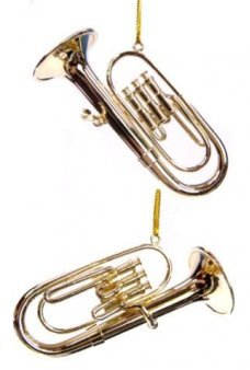 Gold Tuba Musical Metal Ornament