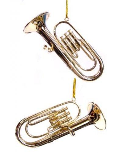 Gold Tuba Musical Metal Ornament