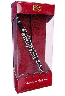Black Clarinet Musical Metal Ornament
