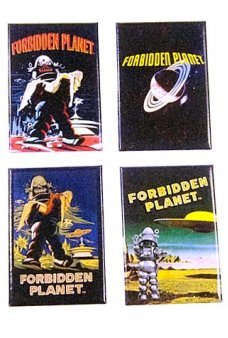 Forbidden Planet Magnets Set of 4