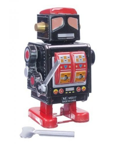 Samurai Warrior Robot Windup Tin Toy