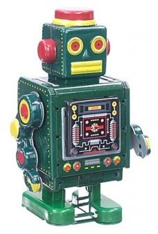 McGreen Machine Robot Tin Toy