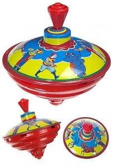 Circus Clown Classic Tin Top Musical
