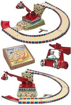 Skyway Space Ride Tin Toy Germany