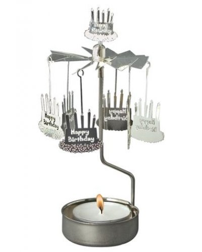 Happy Birthday Cake Candle Carousel