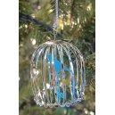 Bird Cage Silver Christmas Ornament