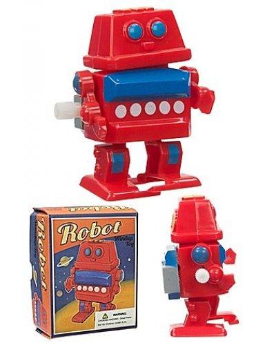 Red Retro Robot Windup Walker UK