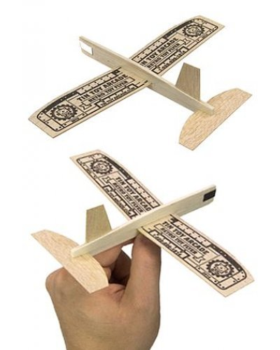 Retro Flyer Balsa Wood Airplanes Set of 10