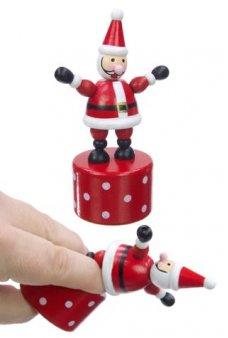 Santa Claus Wood Thumb Puppet